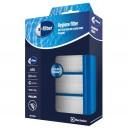 Filtre HEPA lavable EFH12W pour aspirateur Electrolux - Dimensions : 15 x 12 x 2,5 cm.