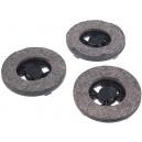 Lot de 3 disques feutre pour cireuse Hoover - Diamètre du disque : 12,8 cm.