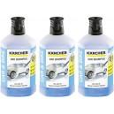 Lot de 3 shampoings de voiture 3 en 1 pour nettoyeur haute pression Kärcher - Flacon de 1L.