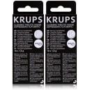 Lot de 2 boîtes de pastilles détergentes Krups - Chaque boîte contient 10 pastilles de 1,5 g.