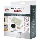 Kit d'entretien filtre mousse + 2 lingettes microfibres + cartouche anti-calcaire Clean & Steam Rowenta