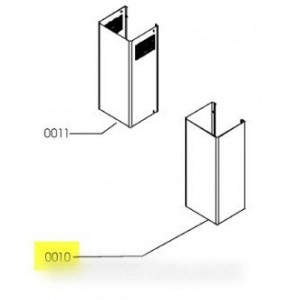 cheminee inox partie inferieure pour hotte IKEA