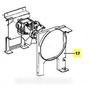 conduit d'aeration repere 17 pour micro ondes MIELE