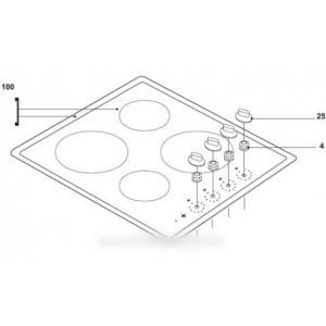Dessus blanc verre vitro ceram pour table de cuisson Table de cuisson vitro