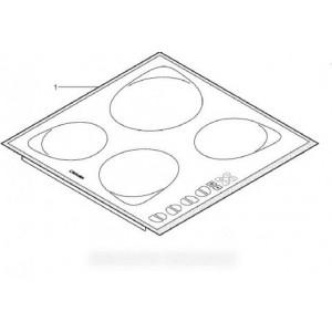dessus plaque vitro-ceram + carte touche pour table de cuisson SCHOLTES