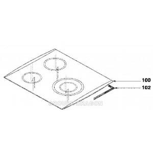 dessus verre table vitro-ceram pour table de cuisson FAGOR BRANDT VEDETTE SAUTER DE-DIETRICH