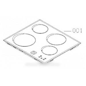dessus verre vitro ceram pour table de cuisson ARTHUR MARTIN ELECTROLUX FAURE