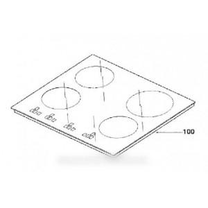 dessus verre vitro-ceram pour table de cuisson DE DIETRICH