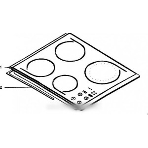 dessus vitro-ceram an pour table de cuisson SCHOLTES