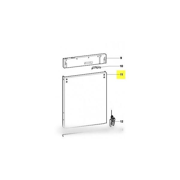 Facade de porte zinc pour lave vaisselle scholtes r f for Facade de porte