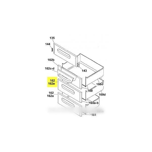 facade de tiroir pour congelateur candy r f 41004912 froid cong lateur d cor. Black Bedroom Furniture Sets. Home Design Ideas