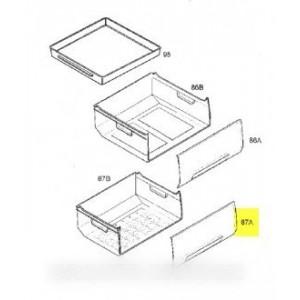 facade de tiroir inferieure pour réfrigérateur ARTHUR MARTIN ELECTROLUX FAURE