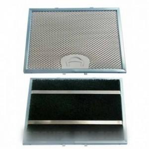FILTRE GRAISSE METAL 24,5CM X 18,3CM pour hotte FAGOR BRANDT VEDETTE SAUTER DE-DIETRICH