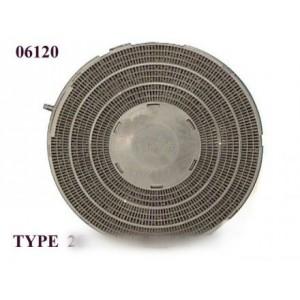 filtre rond a charbon actif type 26 pour hotte WHIRLPOOL