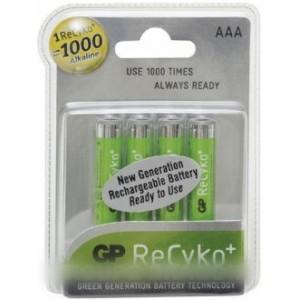 piles x 4 recyko+ 1.2 v 1000 mah lr03 ni