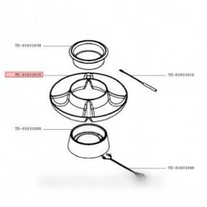 plateau coupelle rouge pour petit electromenager TEFAL