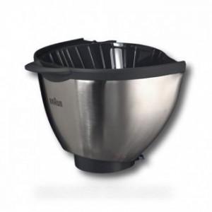 porte filtre metal gris pour petit electromenager BRAUN