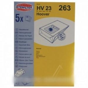 H118M SAC ASPI NON TISSÉ X4+2 FILTRES pour aspirateur HOOVER