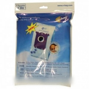 SACS (x4) ANTI ODEUR E203B  IN BOX POUR ASPIRATEUR ELECTROLUX