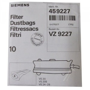 sachet de sacs siemens pour aspirateur BOSCH B/S/H