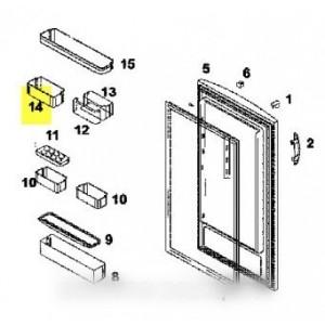 boite de porte haut droite pour réfrigérateur BRANDT