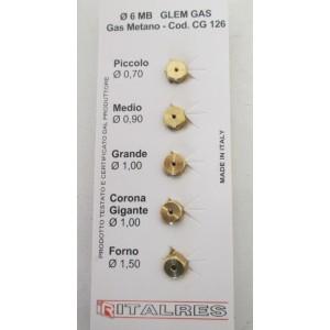 sachet injecteurs gaz naturel pour cuisinière FAURE