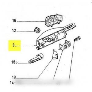 boitier de commande thermostat lampe pour REFRIGERATEUR ROSIERES