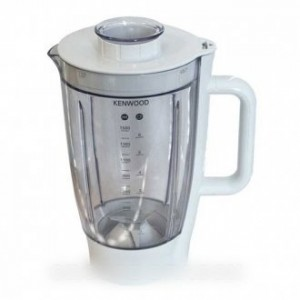 BOL BLENDER ACRYLIC COMPLET BLANC 1.5 L POUR ROBOT MULTIFONCTIONS KENWOOD