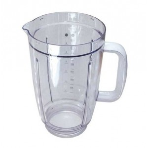 BOL BLENDER ACRYLIC 1,5L POIGNEE BLANCHE POUR ROBOT MULTIFONCTIONS KENWOOD