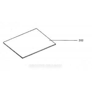 vitre intermediaire 380 x 448 pour four ELECTROLUX