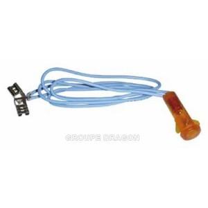voyant orange diametre 10 m/m pour congélateur WHIRLPOOL
