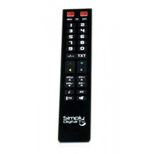 2:1 TELECOMMANDE UNIVERSELLE TV GROSSES TOUCHES