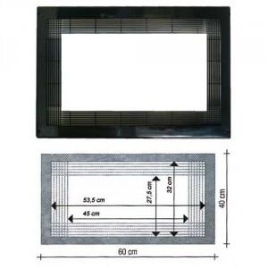 encadrement pour niche de 60x40cm noir pour micro onde lg. Black Bedroom Furniture Sets. Home Design Ideas
