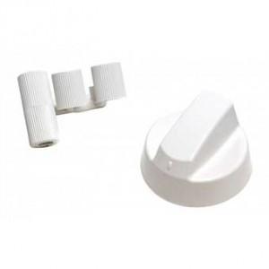 Manette universelle blanche pour four avec adapateurs