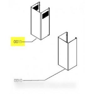 CHEMINEE SUPERIEURE AVEC GRILLE LATERALE POUR HOTTE IKEA