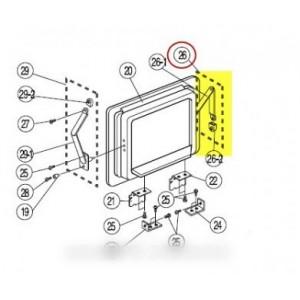bras articule gauche porte bar pour réfrigérateur SAMSUNG