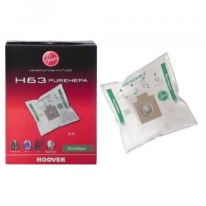 SACS (X4) H63 PURE HEPA  FREESPACE SPRINT POUR ASPIRATEUR HOOVER