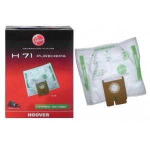 SACS PURE HEPA H71 x4 POUR ASPIRATEUR HOOVER