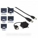 câble usb 1.1, compatible 2.0.fiche a /m